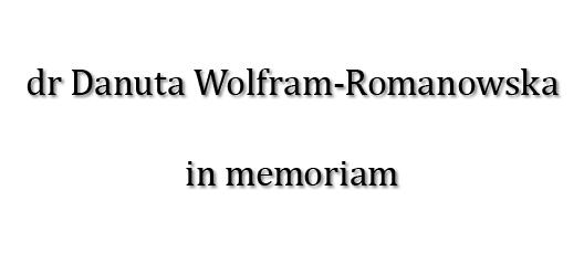 Baner z linkiem do strony poświęconej pamięci dr Danuty Wolfram-Romanowskiej