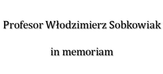 Baner z linkiem do strony poświęconej pamięci Profesora Włodzimierza Sobkowiaka