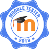 Moodle Tester 2018 Badge